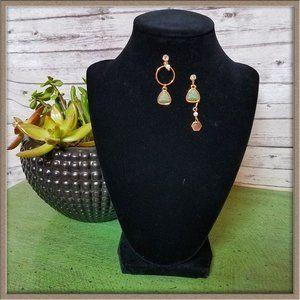 NWT Betsey Johnson mismatch geometric earrings